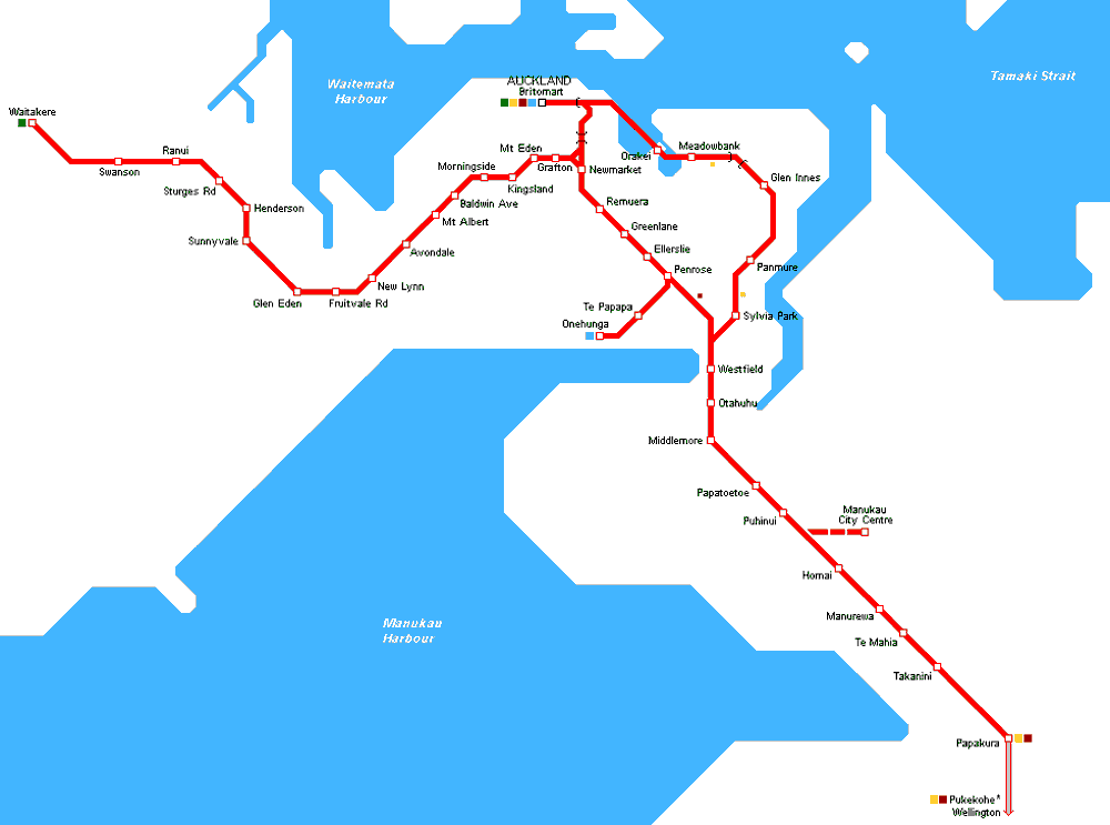 Auckland Metro Map large map