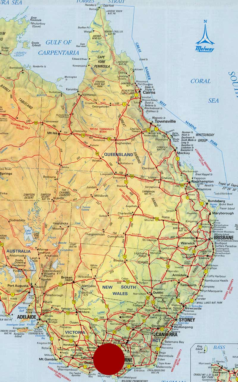 Map Eastern Australia.Aus East Mapsof Net