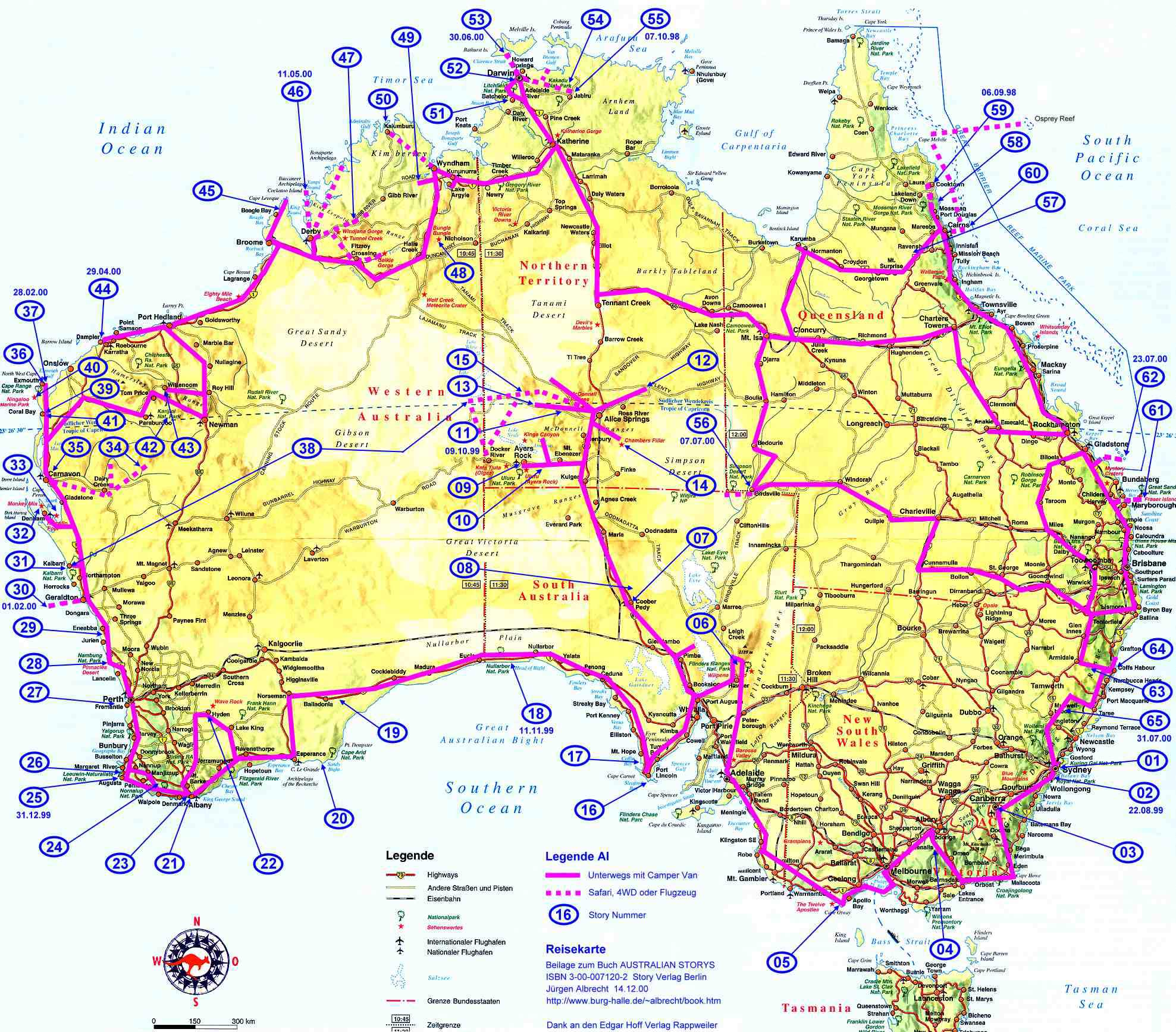 Aus Roads De large map