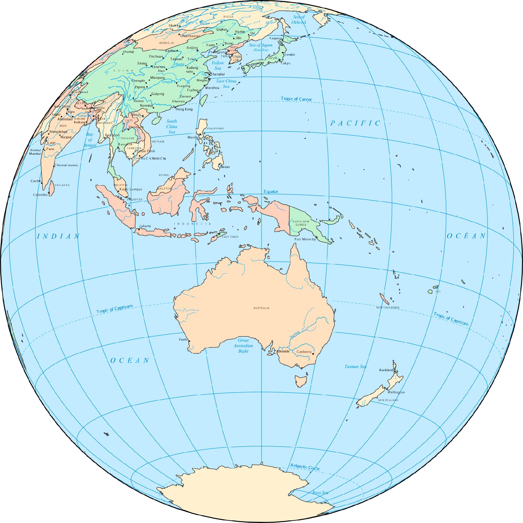 Australia Map Globe.Australia Globe Mapsof Net