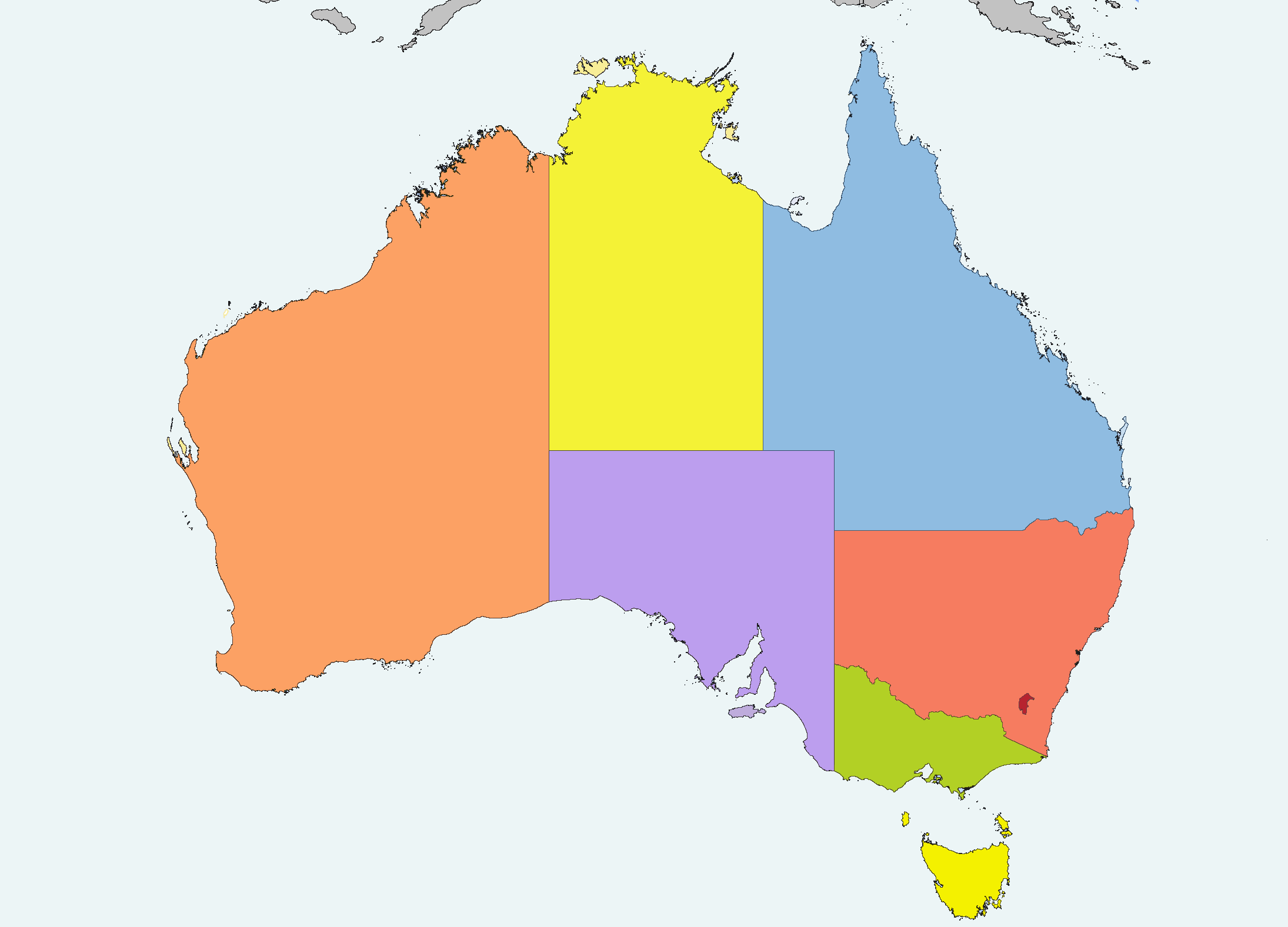 Australia Location Map.Australia Location Map Recolored Mapsof Net