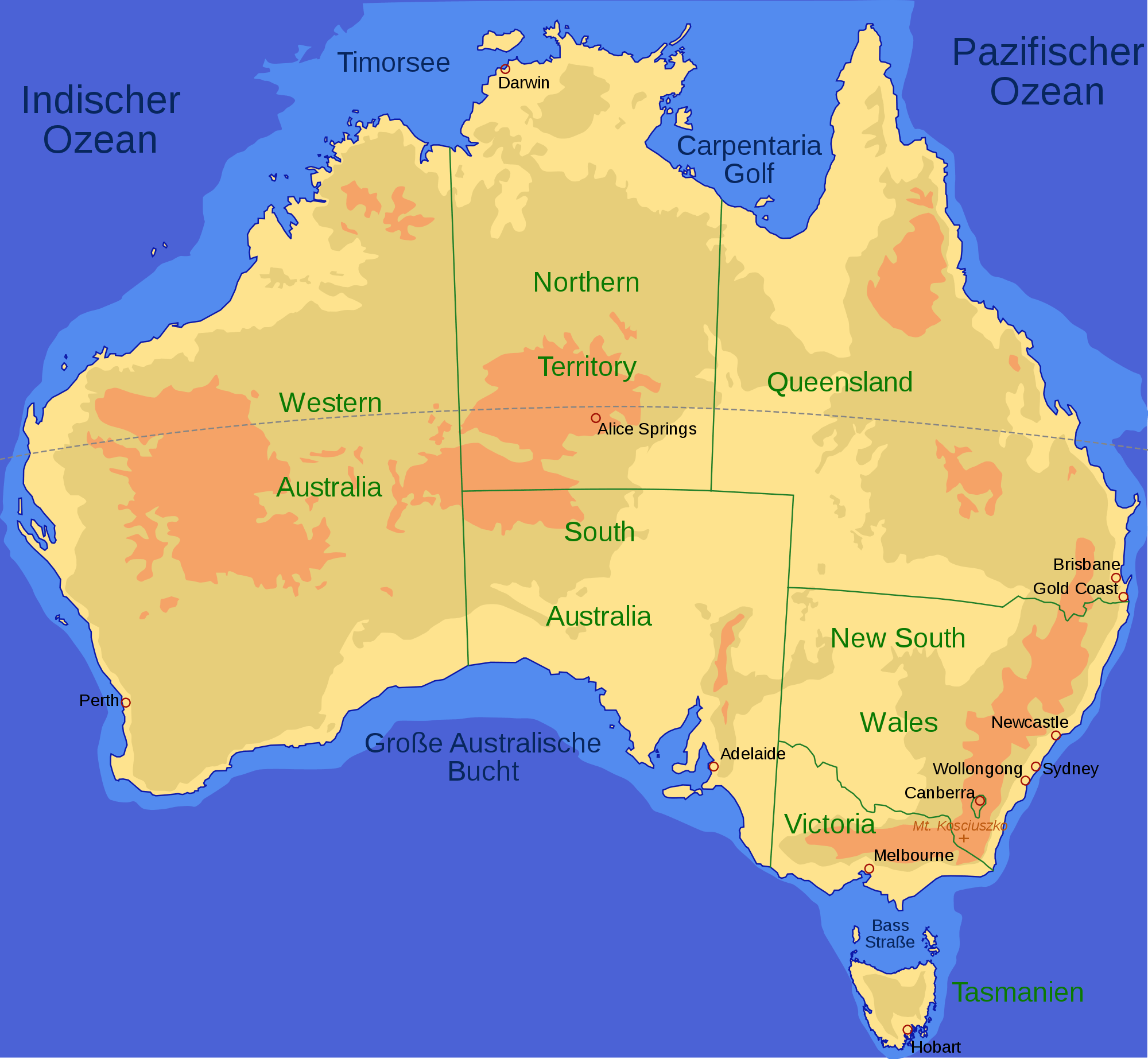 Large Map Of Australia.Australia Map Mapsof Net