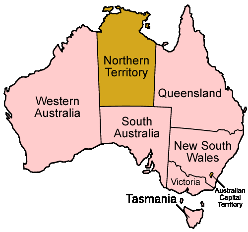Australia States Named Mapsofnet – Map of the States of Australia