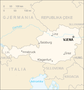 Austria Harta large map
