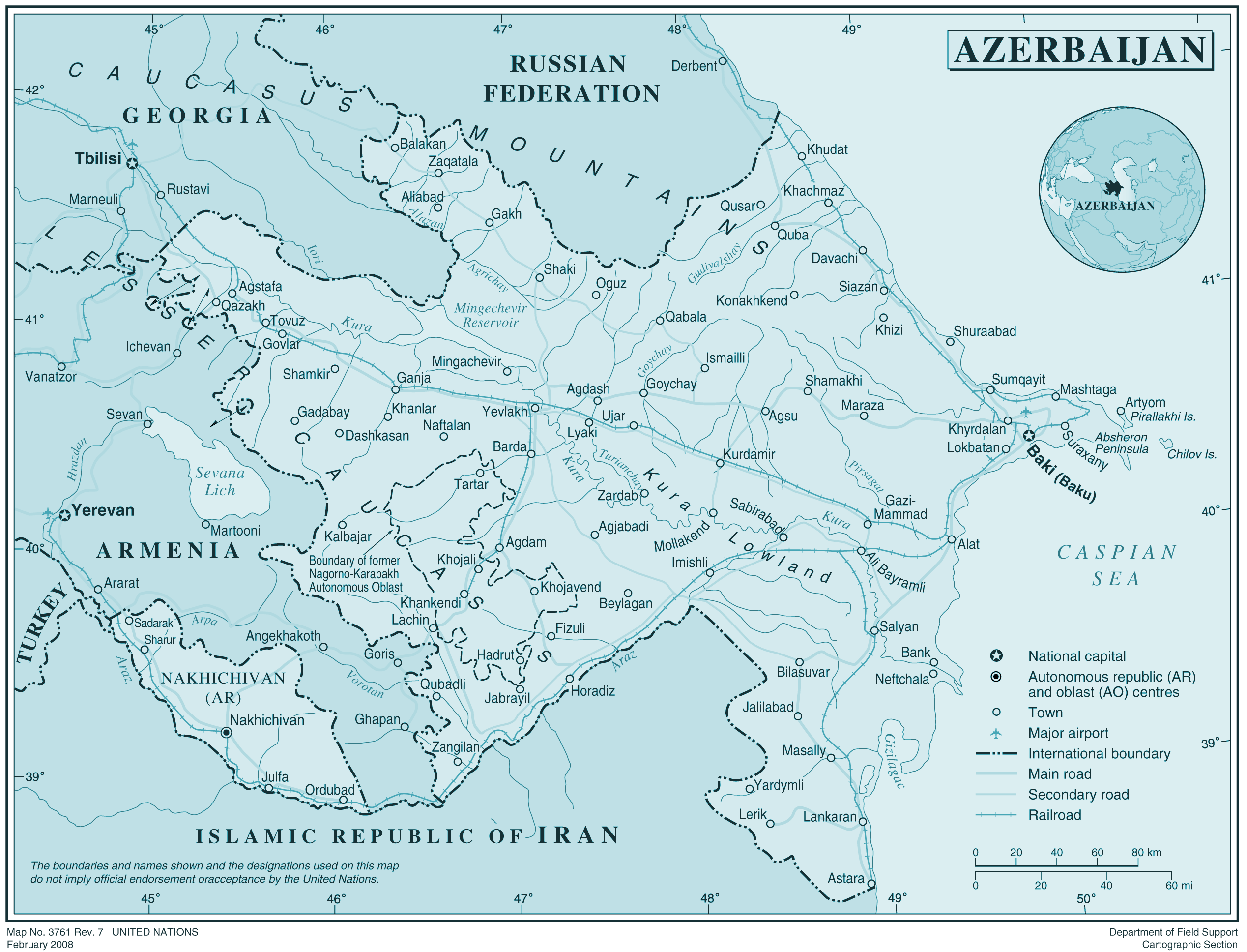 Azerbaij large map