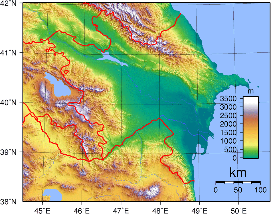 Azerbaijan Topography • Mapsof.net on topographic map of the balkans, topographic map of arctic ocean, topographic map of guinea, topographic map of easter island, topographic map of fiji islands, topographic map of united states of america, topographic map of mali, topographic map of the cayman islands, topographic map of serbia, topographic map of algeria, topographic map of antigua, topographic map of the united kingdom, topographic map of bulgaria, topographic map of grenada, topographic map of zambia, topographic map of galapagos islands, topographic map of tahiti, topographic map of united arab emirates, topographic map of suriname, topographic map of latvia,