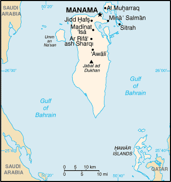 Bahrain Map large map