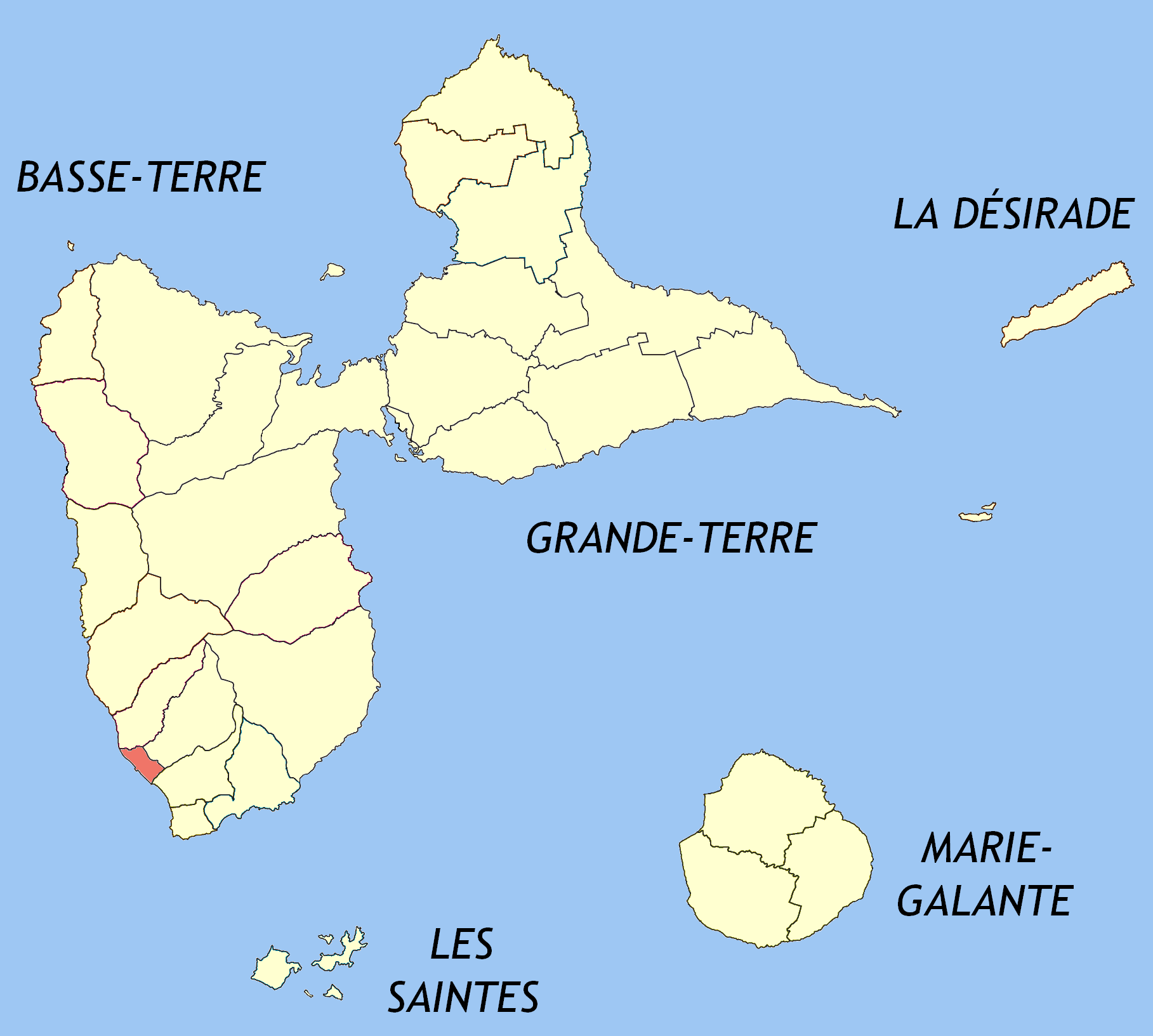 map of basse terre