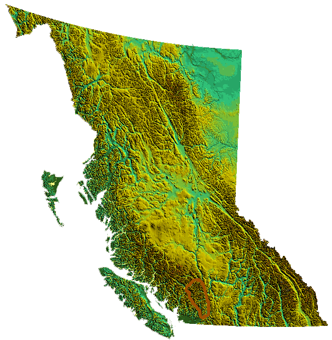 Bc Relief Lillooetranges2 large map