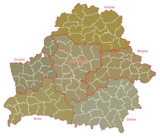 Belarus Geohive large map