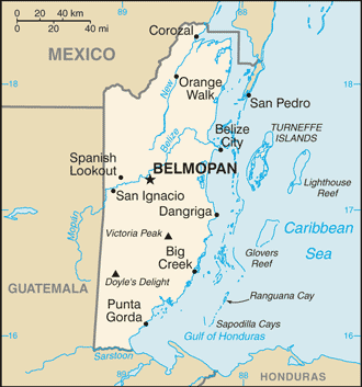 Belize Cia Wfb Map large map
