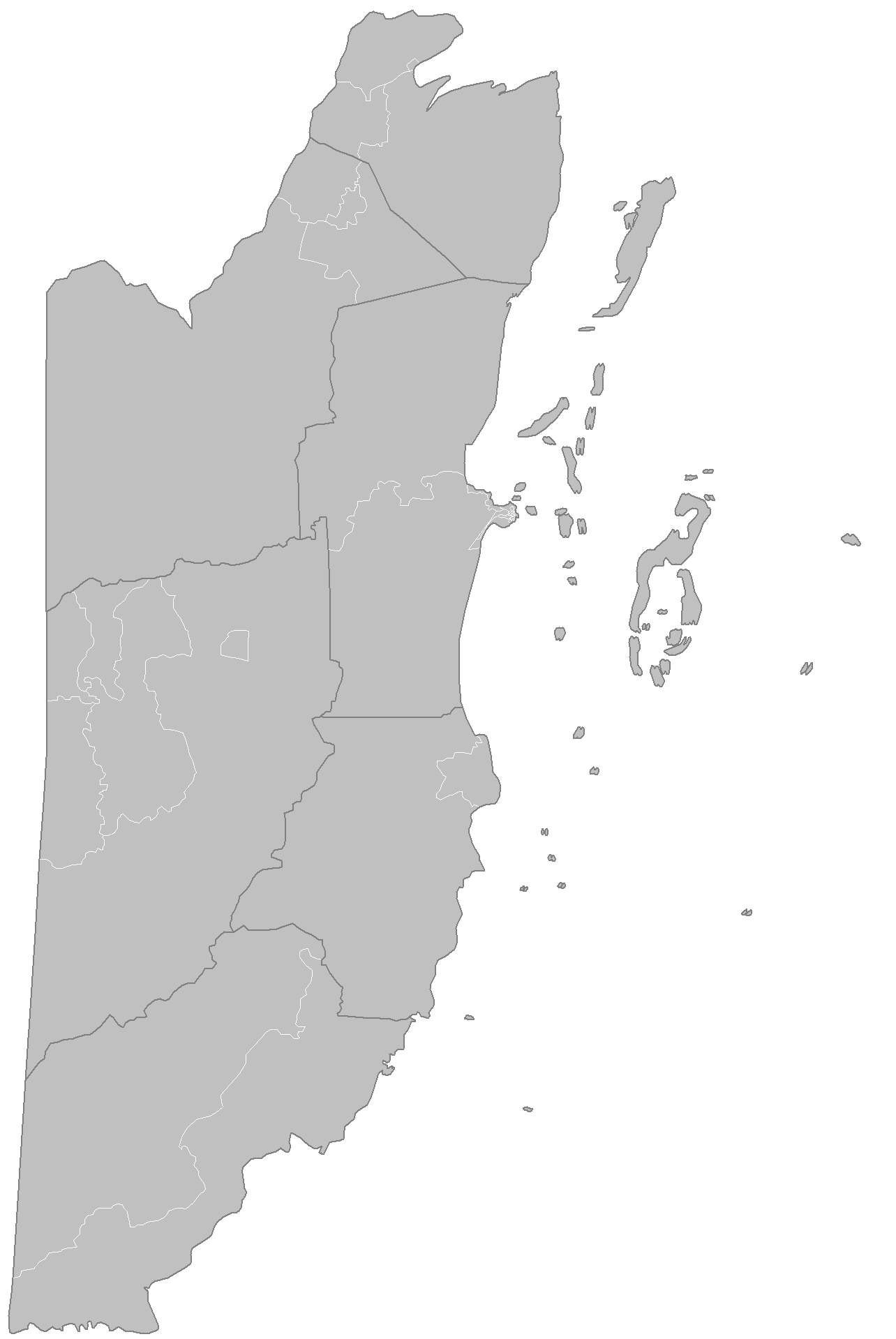 Belize Constituencies large map