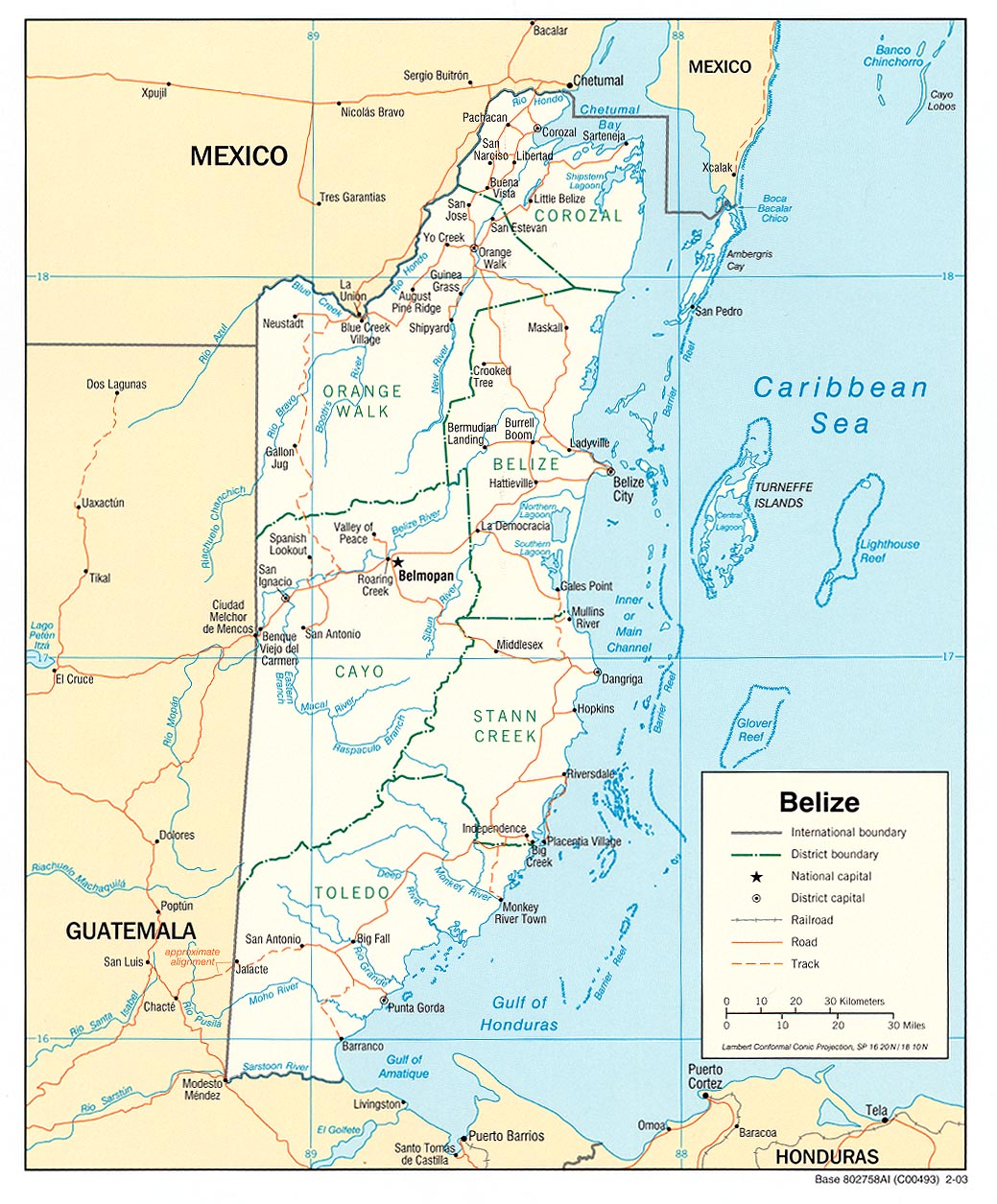 Belize Pol 03 large map