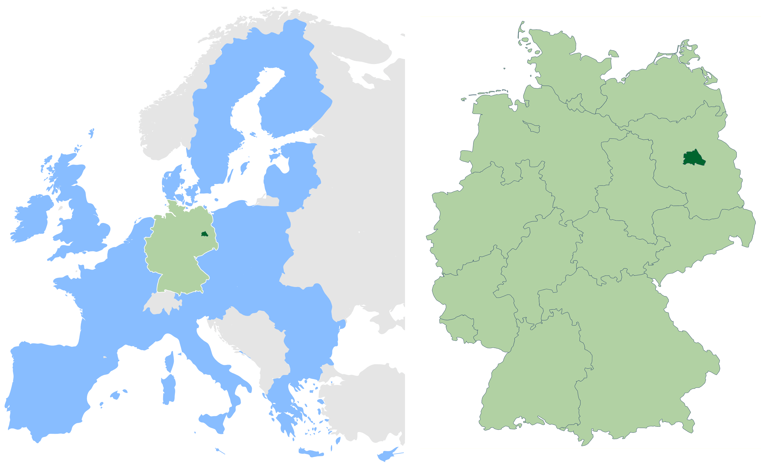 Berlin Map Of Germany.Berlin In Germany And Eu Mapsof Net