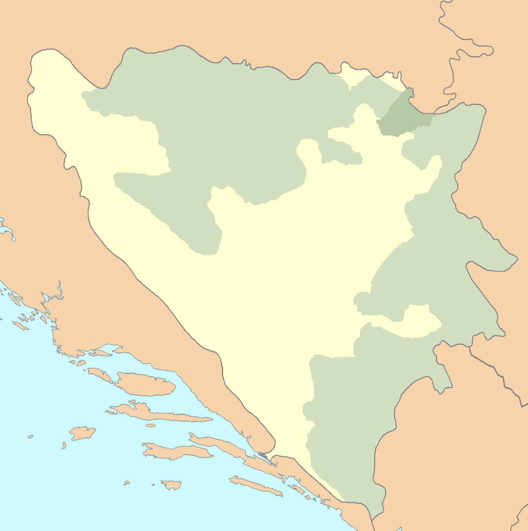Bih Outline Map large map