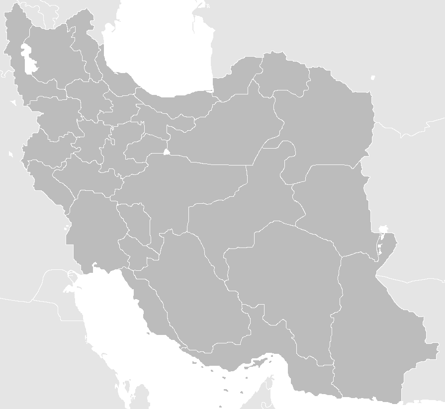 blank maps of spain. Blank Map Iran With Water
