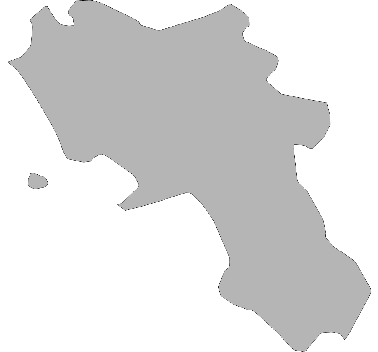 Blank Map of Campania Mapsofnet
