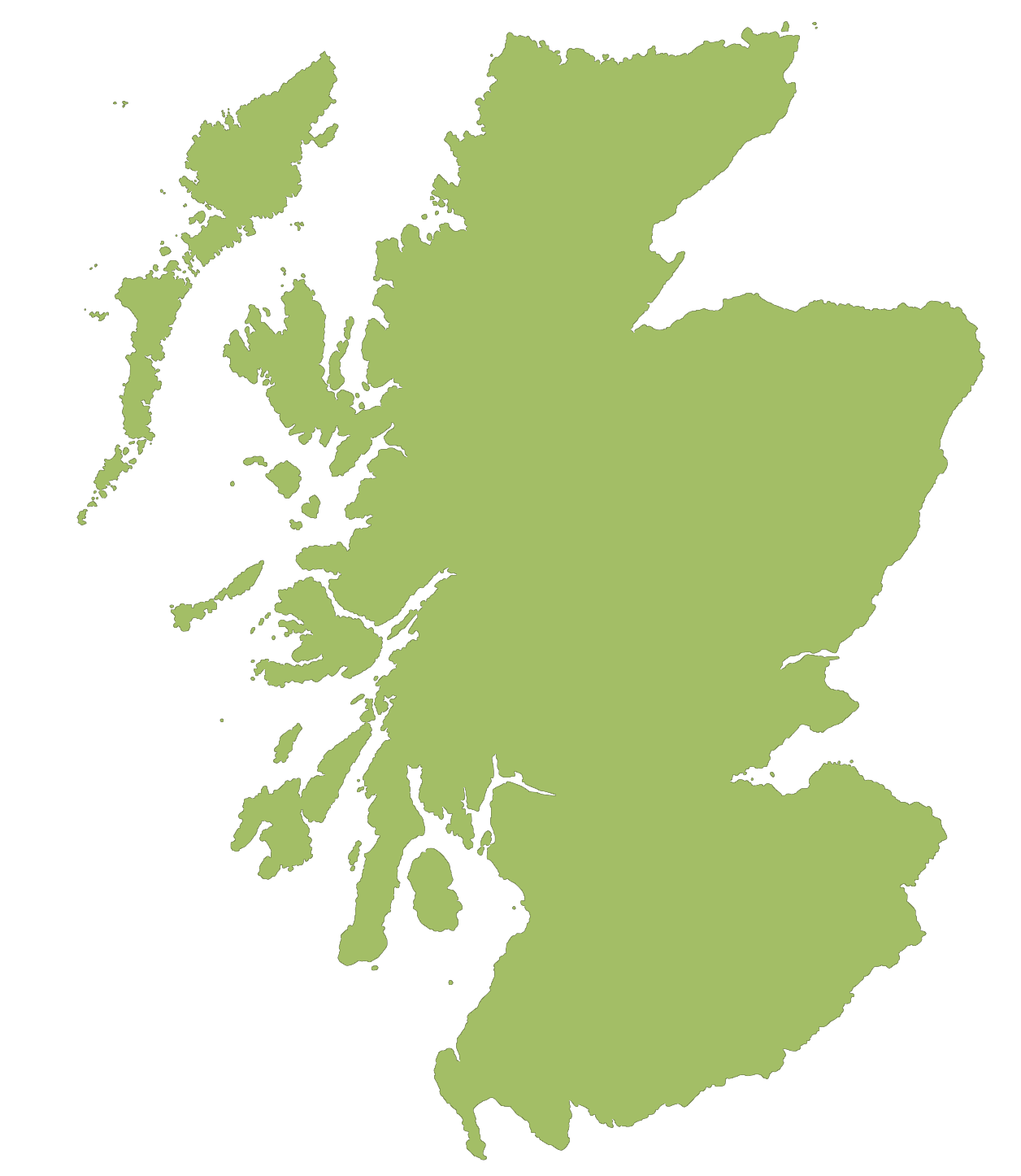 Blank Map of Scotland large map