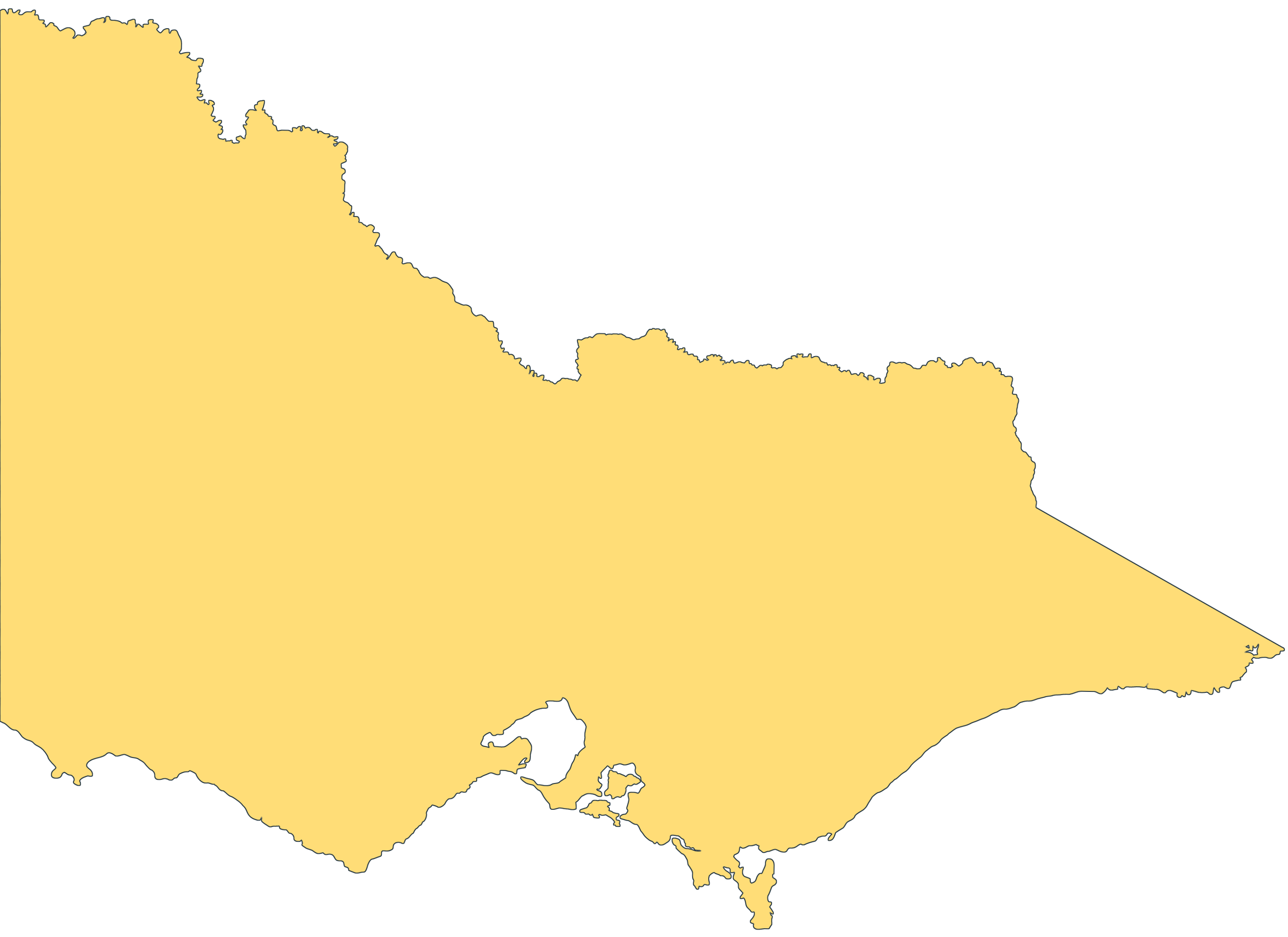 Blank Map of Victoria Mapsofnet – Victoria Australia Map