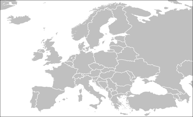 Blank Map Of Europe Map