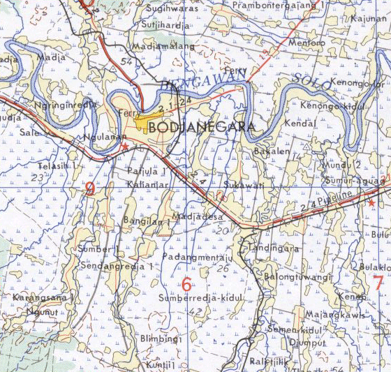 Click On The Bojonegoro Map From Us Army Map Service