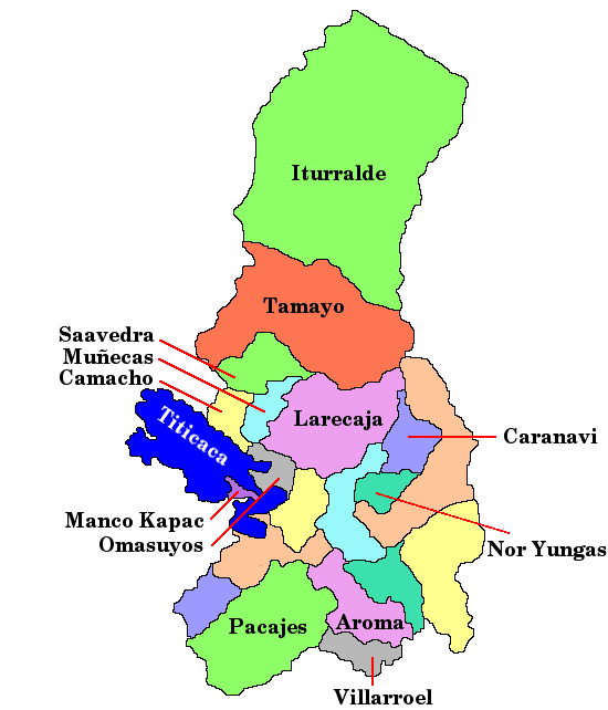 Bolivia Department of La Paz Mapsofnet