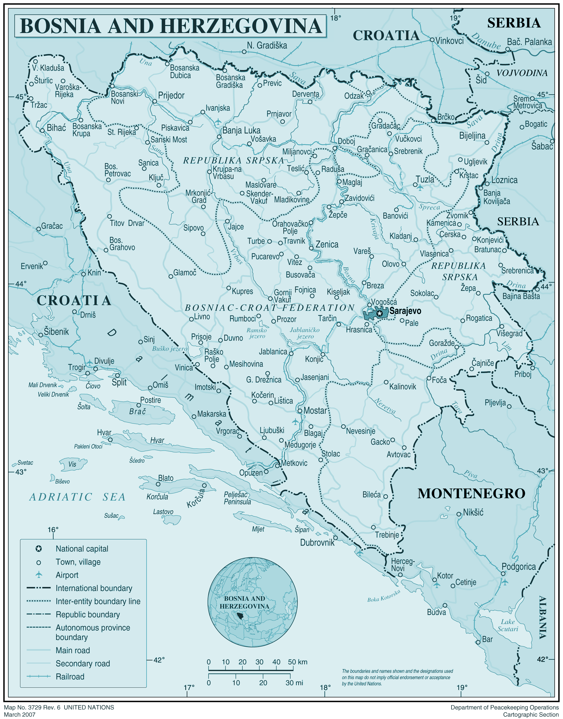Bosnia large map
