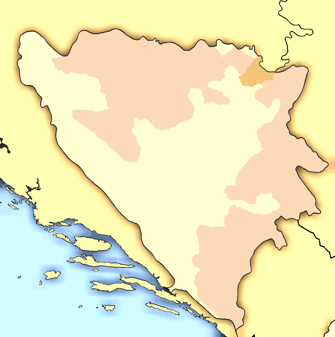 Bosnia Herzegovina Map Modern large map
