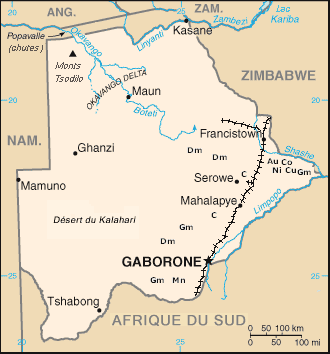 Botswana Mine large map
