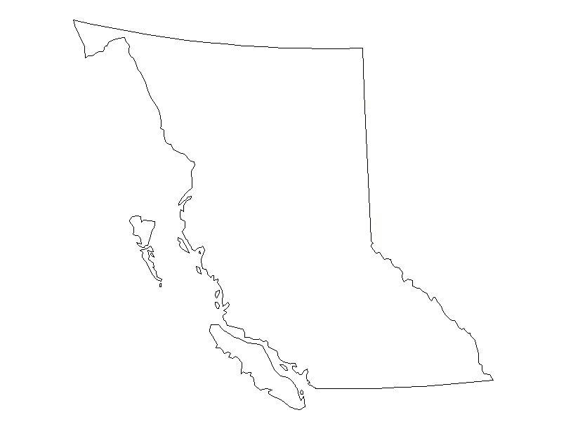 blank map of bc Britsih Columbia Outline Mapsof Net blank map of bc