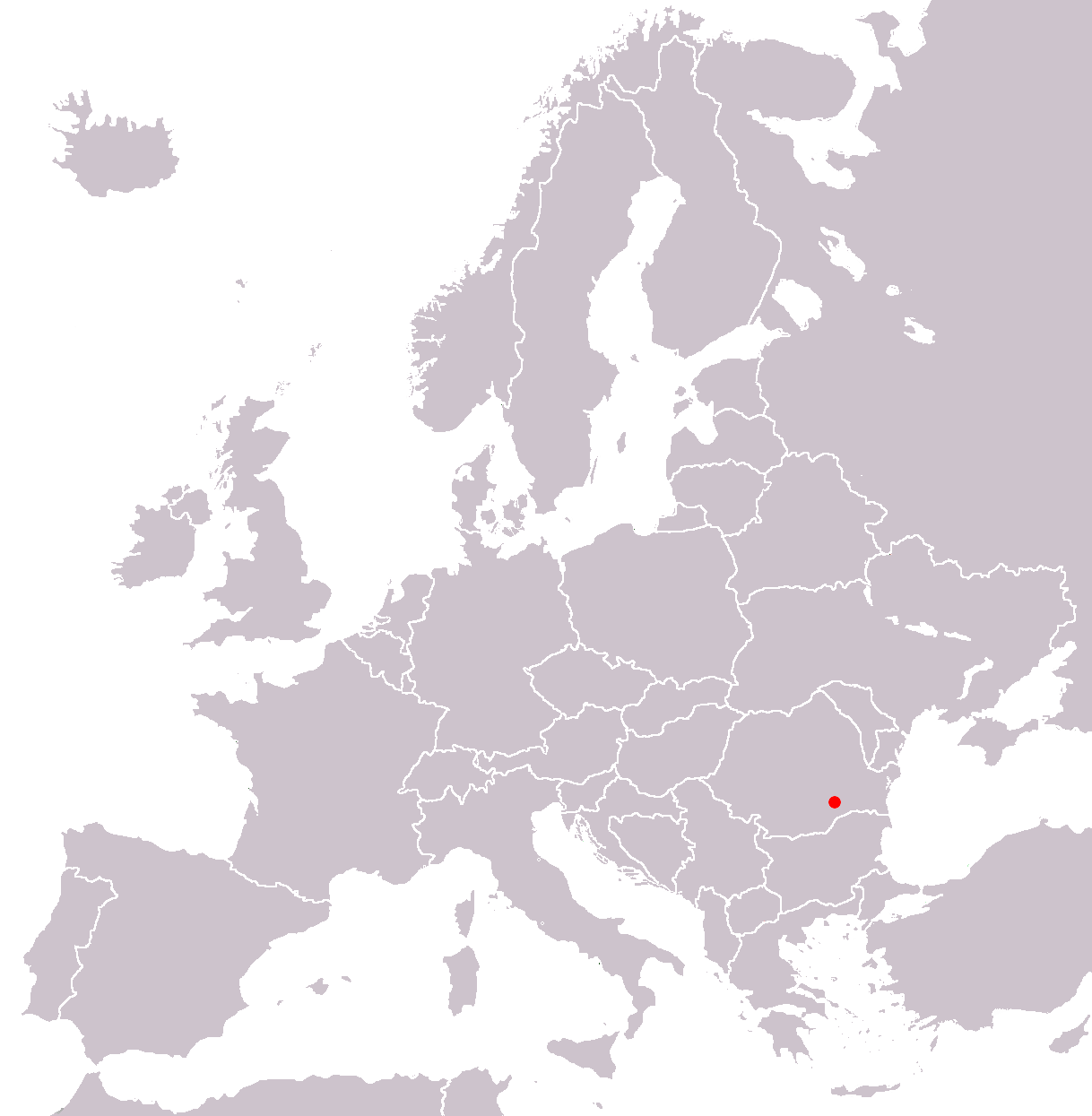 Bucarest In Europe Map 2