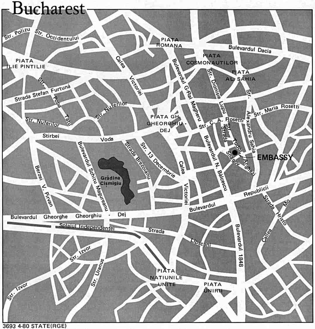Bucharest (1980) large map
