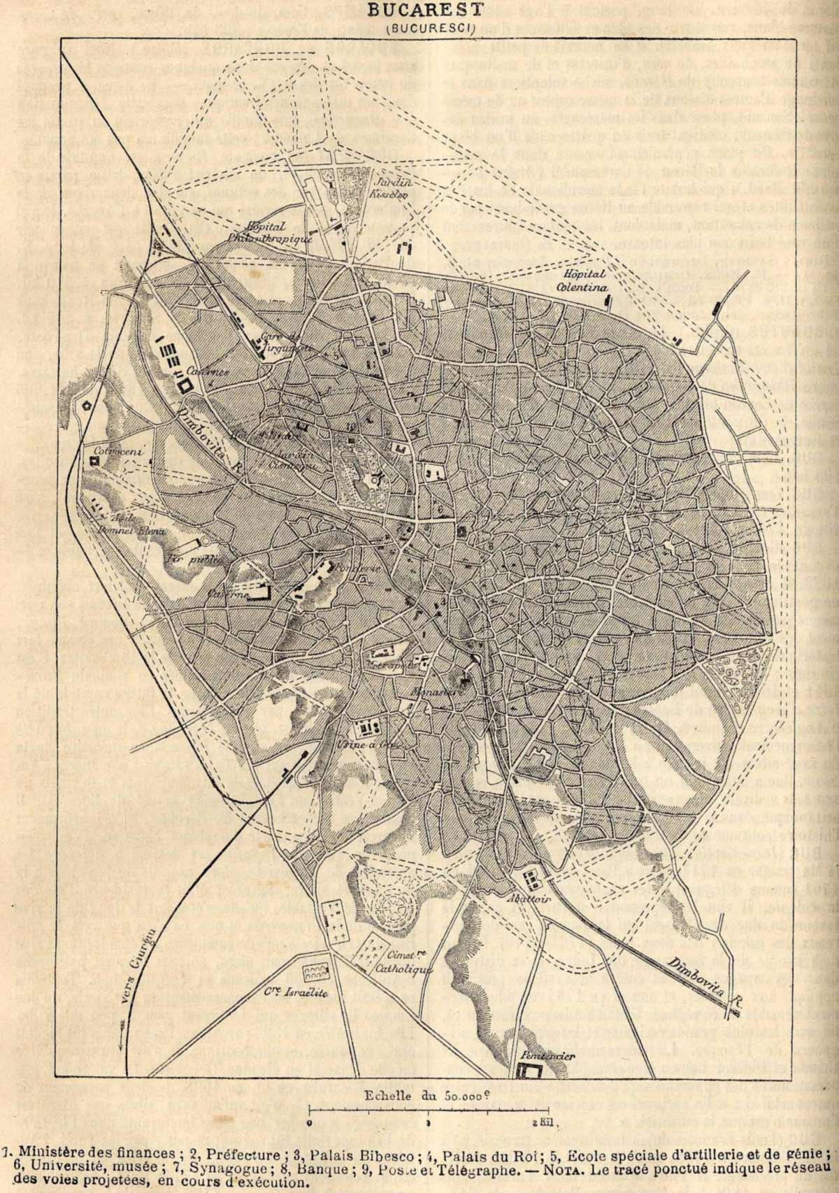 Bucuresti 1886 large map