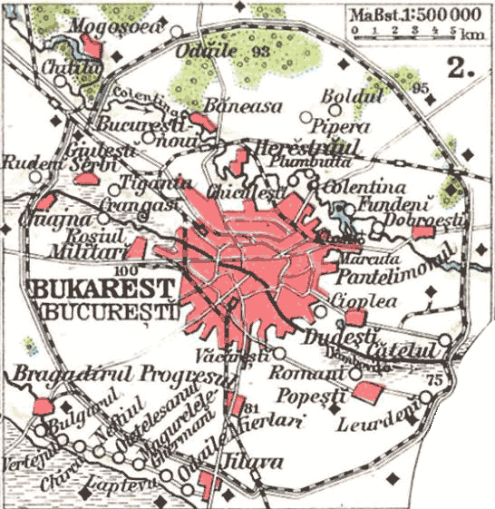 Bukarest 1911 large map