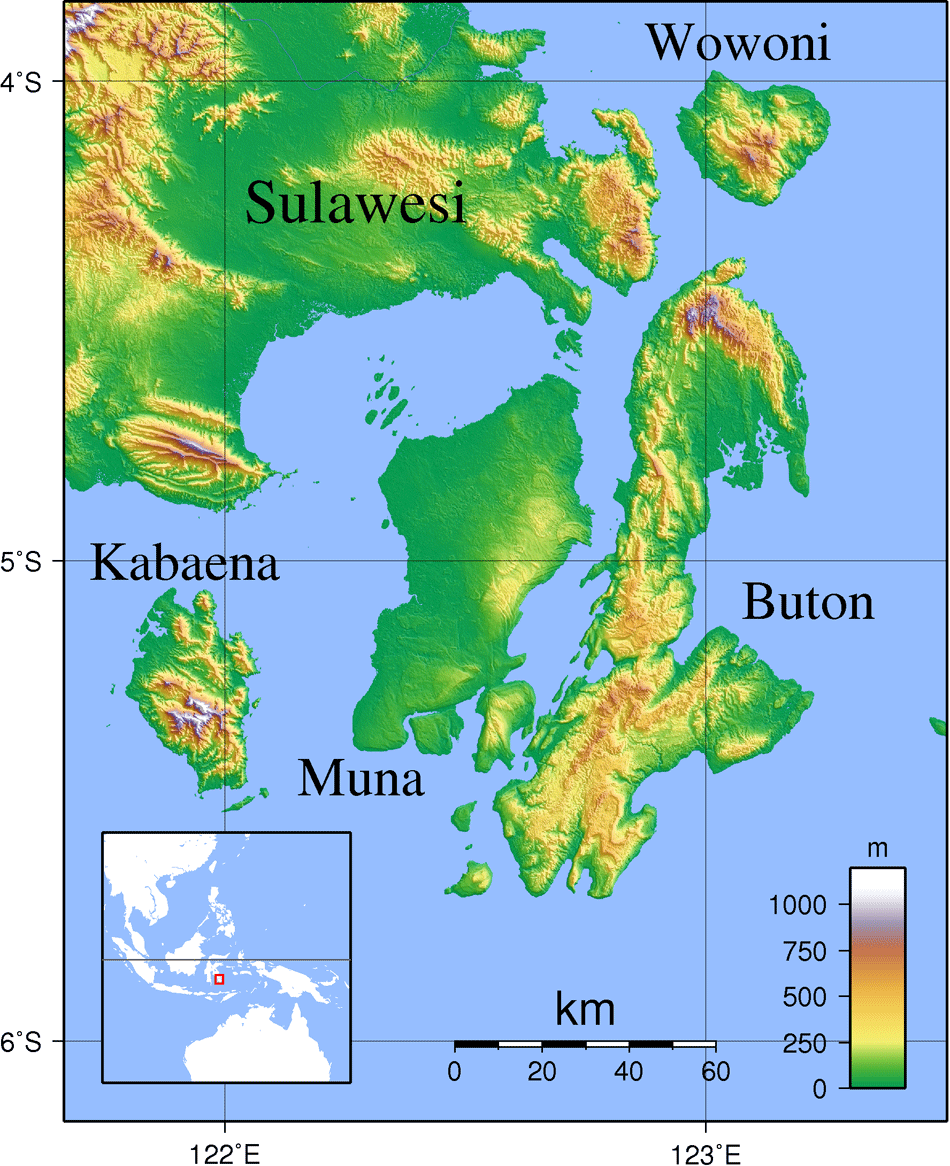Buton Topography large map