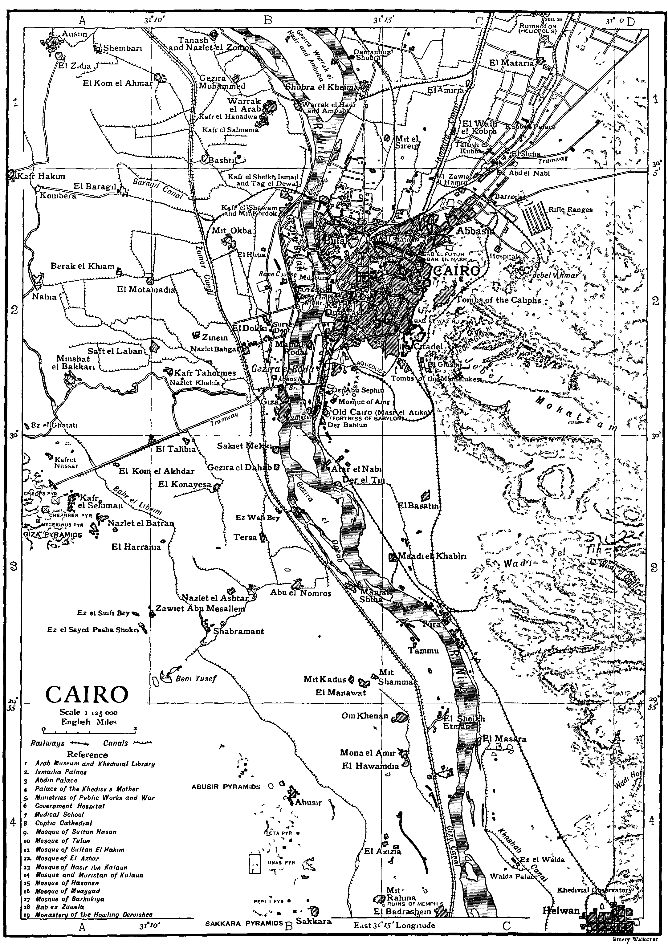 Cairo 1 large map