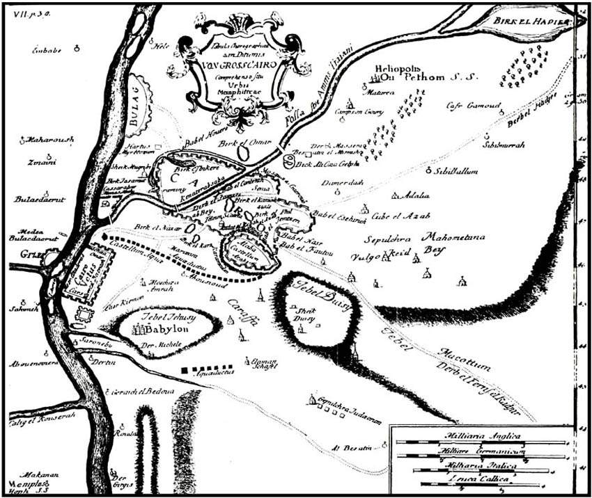 Cairo Map1736 Pocoke large map