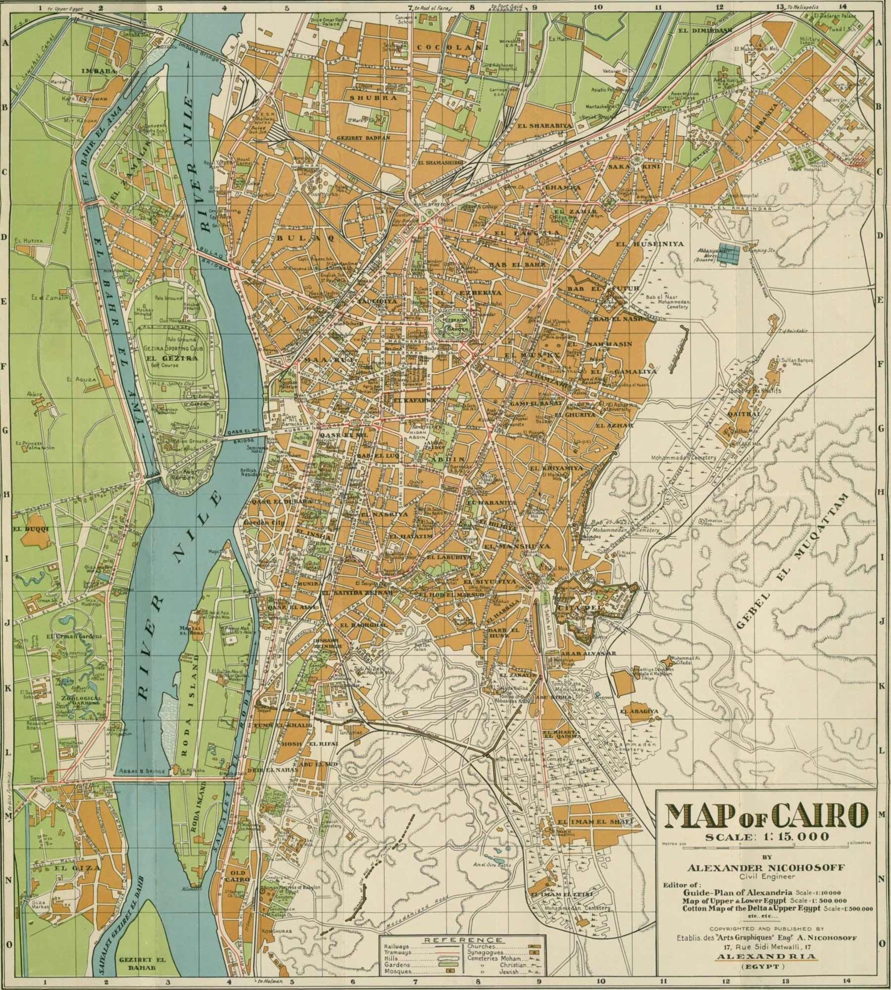 Cairo Map1933 Nicohosoff