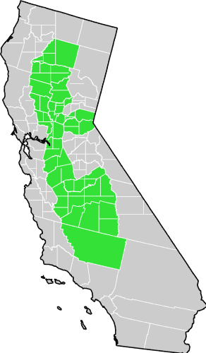 Map Of California Central Valley.California Centralvalley County Map Mapsof Net