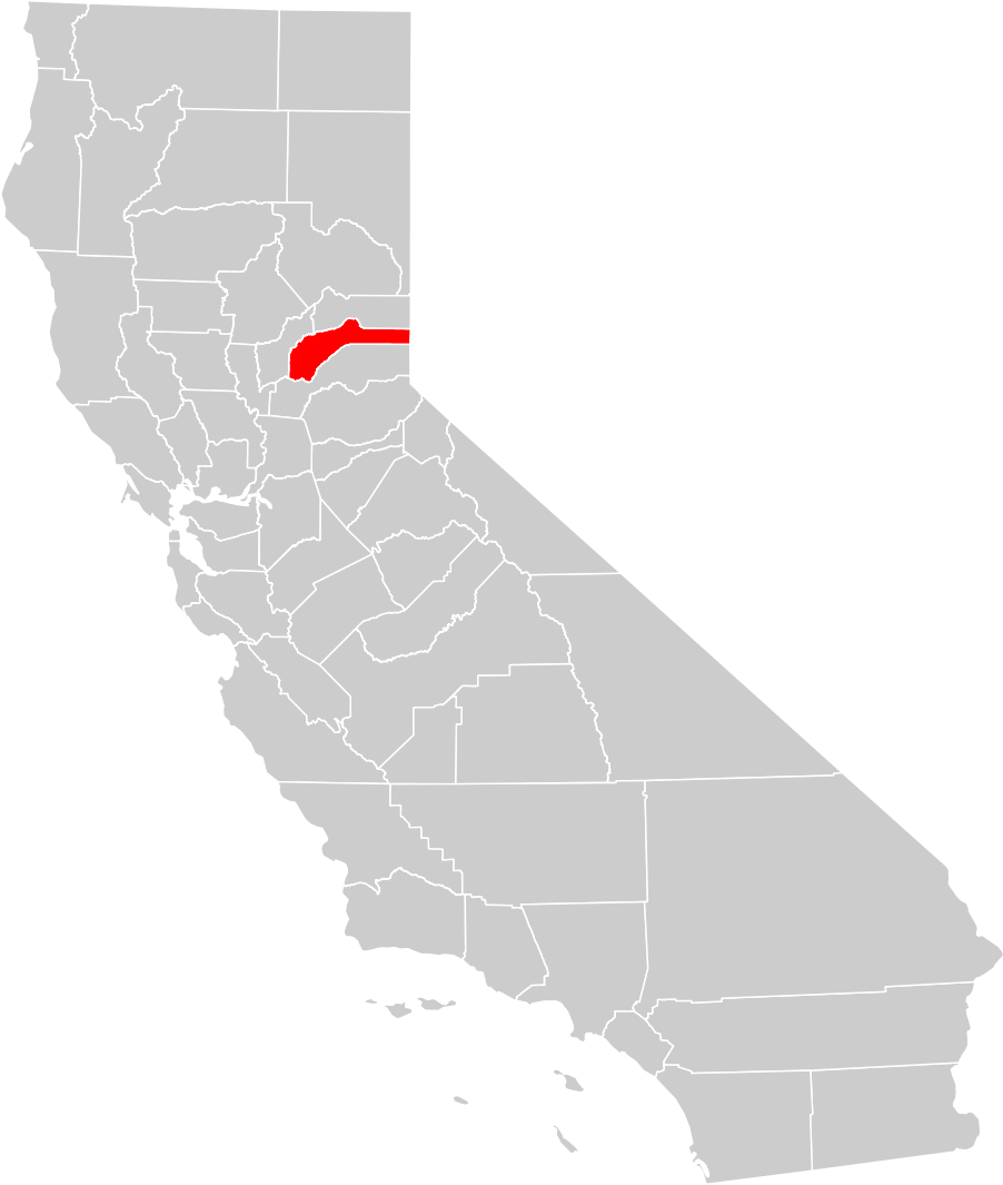 California County Map nevada County Highlighted Mapsofnet