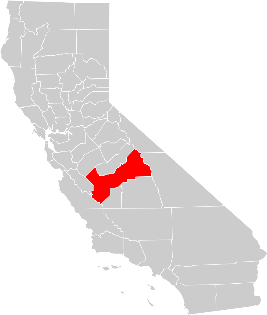 map fresno california california map