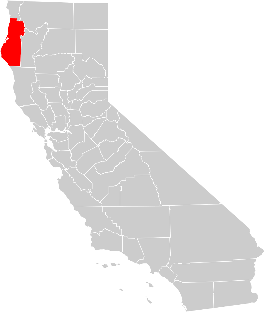 California County Map Humboldt County Highlighted Mapsof Net