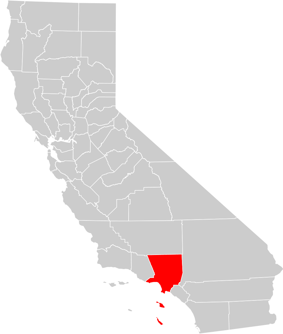 California County Map Los Angeles County Highlighted Mapsof Net