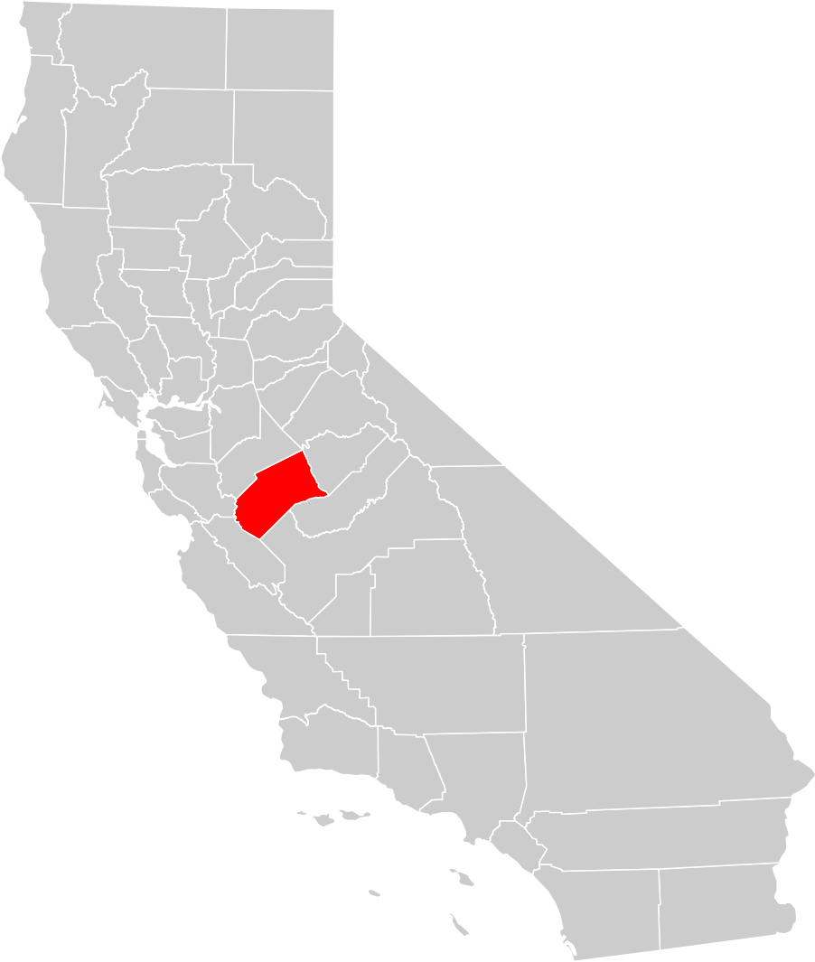 California County Map Merced County Highlighted Mapsof Net