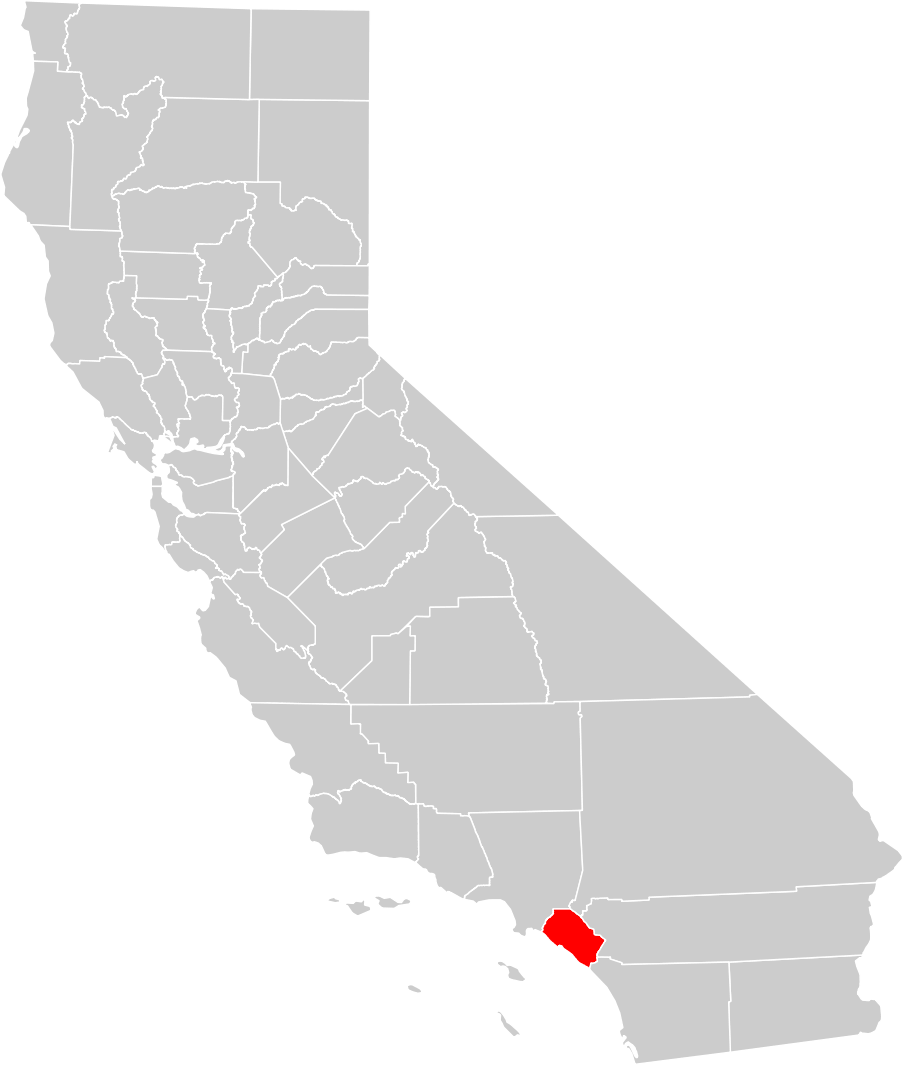 California County Map (orange County Highlighted) • Mapsof.net