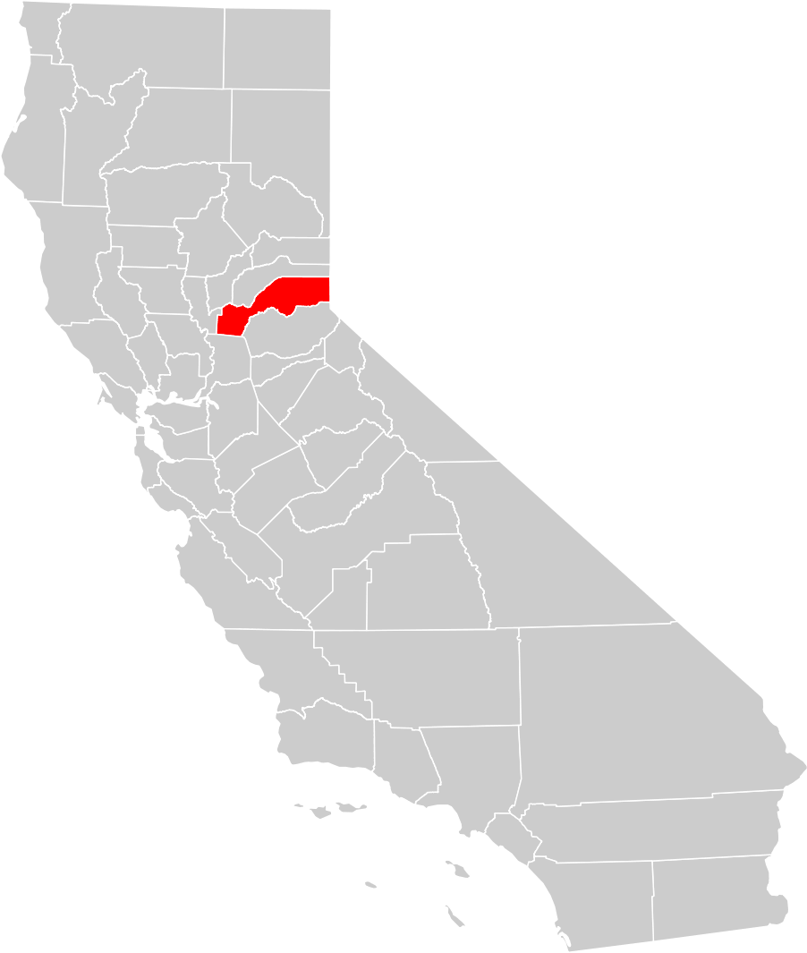 California County Map (placer County Highlighted) • Mapsof.net