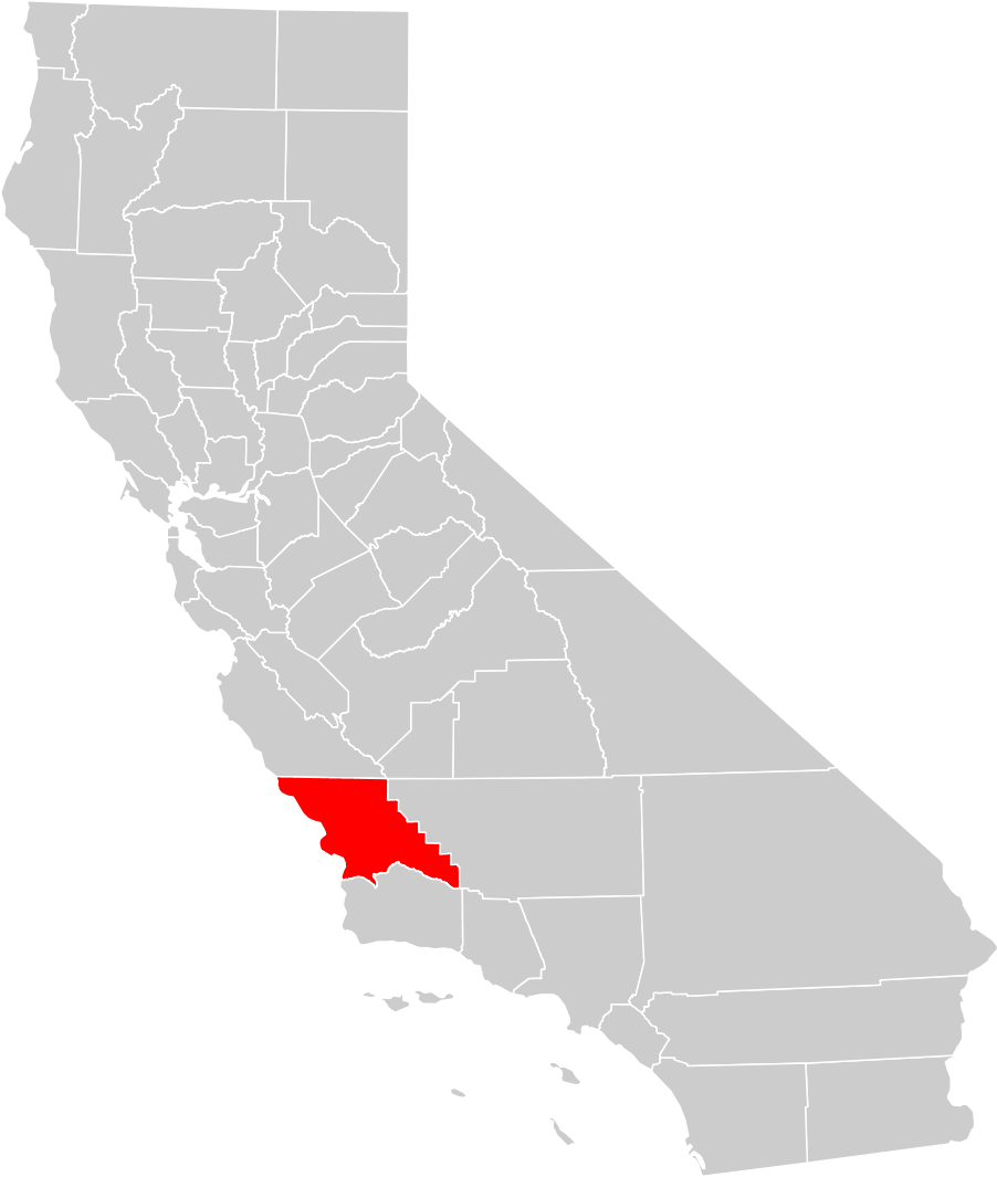 California County Map San Luis Obispo County Highlighted Mapsof Net