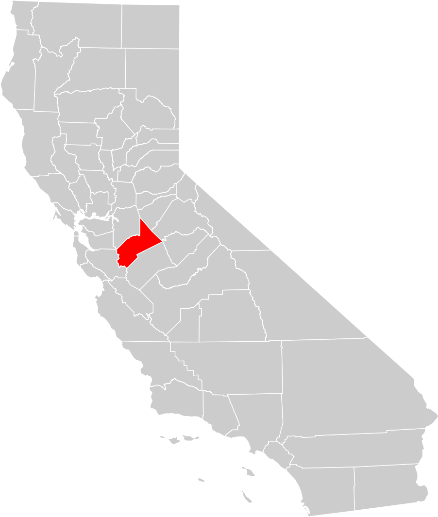 Counties In California Map.California County Map Stanislaus County Highlighted Mapsof Net