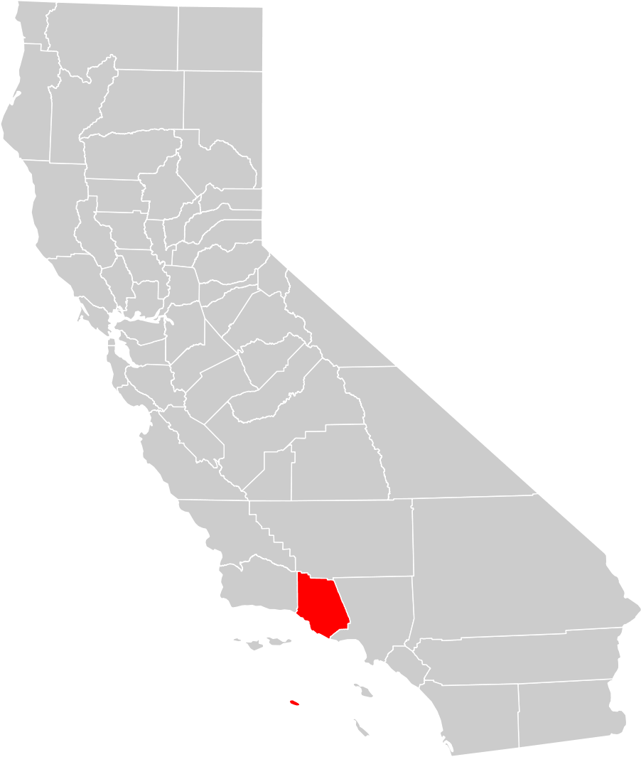 Map Of California Ventura.California County Map Ventura County Highlighted Mapsof Net