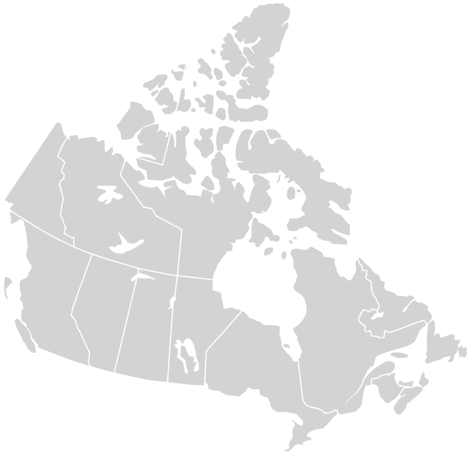 Canada Blank Map large map